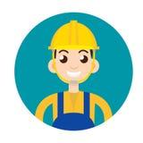 Masonry character icon. Vector illustration Royalty Free Stock Photo