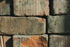 Masonry closeup for background royalty free stock photo