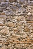 Masonry constructed stone wall background texture stock images