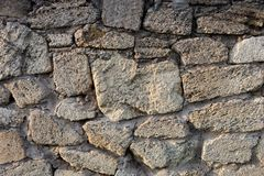 Masonry of coquina bricks Royalty Free Stock Image