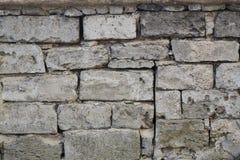 masonry Fragment av den forntida väggen arkivfoto