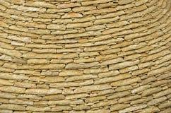Masonry of limestone flat tiles Royalty Free Stock Images