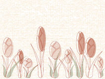 Masonry med tulpan vektor illustrationer
