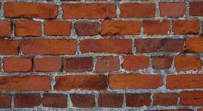 Masonry of orange rectangular red brick Royalty Free Stock Images