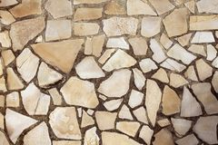 Masonry rock stone tiles floor on the park Royalty Free Stock Photos