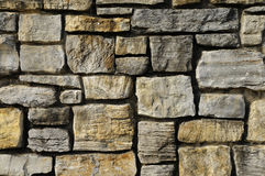 Masonry rock wall texture Royalty Free Stock Images
