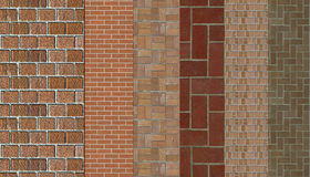 Masonry samples Royalty Free Stock Photo