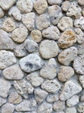 Masonry of sea stones close-up macro texture Royalty Free Stock Image