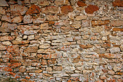 Masonry in Spain, old stone walls Royalty Free Stock Photo