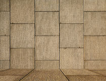 Masonry square wall with floor. Wall with square textured panels with floor which is a great prop and background for a photographer stock images
