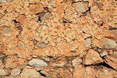 Masonry stone wall ancient concrete texture Stock Photos