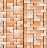 Masonry stone wall beautiful banner wallpaper design illustratio Stock Photos