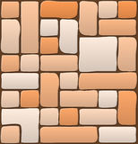 Masonry stone wall beautiful banner wallpaper design illustratio Royalty Free Stock Photo