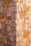 Masonry stone wall corner detail construcion work Royalty Free Stock Image