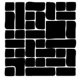 Masonry stone wall silhouette beautiful banner wallpaper design Royalty Free Stock Photography