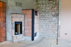 Masonry stove Royalty Free Stock Photos