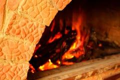 Masonry stoves and fire Royalty Free Stock Photography