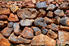 Masonry texture in Spain Mediterranean ancient wall Royalty Free Stock Image