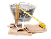 Masonry tools Stock Image
