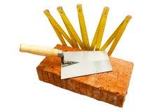 Masonry tools isolated on white Stock Images