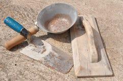 Masonry tools Stock Photo