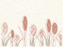 Masonry with tulips Stock Photo