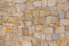 Masonry wall textre of handmade stones Stock Images