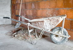 Masonry Wheelbarrow Stock Photography