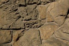 Masonry of wild stones. Closeup shot Royalty Free Stock Photography