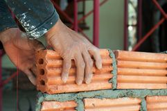 Masonry work Royalty Free Stock Photography