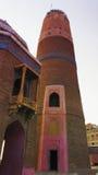 Masoom schah Minaar på Sukkur, Pakistan royaltyfria foton