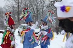 Masopust Carnaval Plechtige Shrovetide-optocht, Tsjechische Repub Stock Afbeeldingen