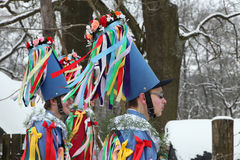 Masopust Carnival. Ceremonial Shrovetide procession, Czech Repub Royalty Free Stock Photos