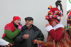 Masopust Carnival. Ceremonial Shrovetide procession, Czech Repub Stock Photo
