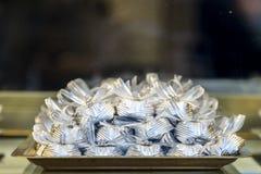 Masowi cukierki z faborkami Zdjęcia Stock