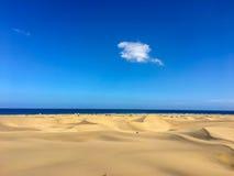 Maspalomas沙丘-大加那利岛-西班牙 库存照片