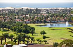 Maspalomas in Canary Islands Royalty Free Stock Images