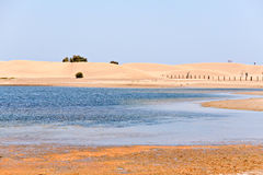 Maspalomas desert in Gran Canaria Stock Images
