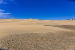 Maspalomas Duna - öken i kanariefågeln och Gran Canaria Arkivfoton