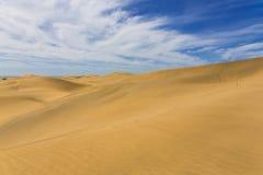Maspalomas Duna - έρημος στο Κανάριο νησί θλγραν θλθαναρηα Στοκ φωτογραφία με δικαίωμα ελεύθερης χρήσης