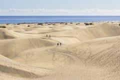 Maspalomas Dunas strand, Gran Canaria Arkivfoton