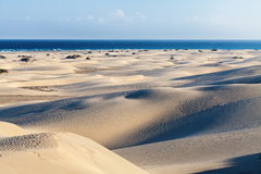 Maspalomas Dunes, Gran Canaria. Canary Islands, Spain - photographed at sunset Stock Photo