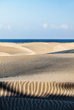 Maspalomas Dunes, Gran Canaria. Canary Islands, Spain - photographed at sunset Royalty Free Stock Photo
