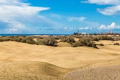 Maspalomas Dunes-Gran Canaria,Canary Islands,Spain royalty free stock photos