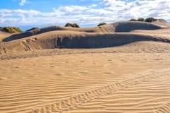 Maspalomas dunes in Gran Canaria Royalty Free Stock Photography
