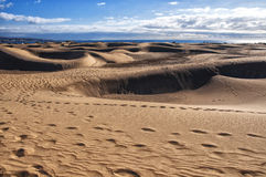 Maspalomas dunes in Gran Canaria Stock Images