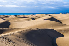 Maspalomas dunes in Gran Canaria Royalty Free Stock Photo