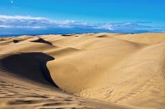 Maspalomas dunes in Gran Canaria Royalty Free Stock Images