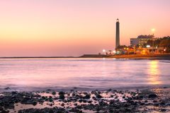 Maspalomas lighthouse, Gran Canaria, Spain Stock Images