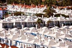 Maspalomas resort roofs stock photos
